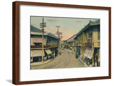 'Manila, P.I. Escolta', c1912-Unknown-Framed Giclee Print