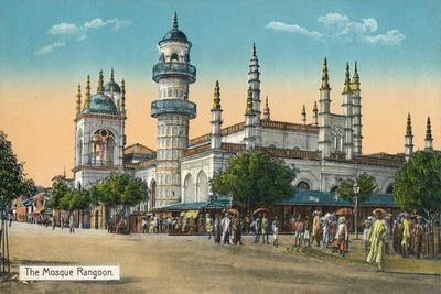 'The Mosque Rangoon', c1888-Unknown-Framed Giclee Print
