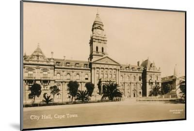 'City Hall, Cape Town', c1933-Unknown-Mounted Photographic Print