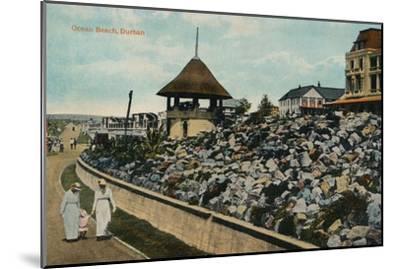 'Ocean Beach, Durban', c1914-Unknown-Mounted Giclee Print