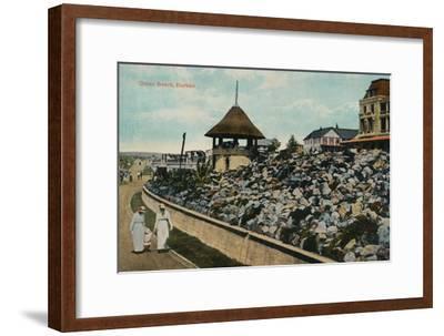 'Ocean Beach, Durban', c1914-Unknown-Framed Giclee Print