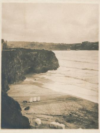 'Evening at Newquay', 1927-Unknown-Framed Photographic Print