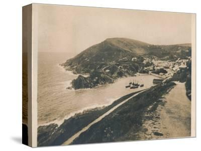 'Polperro from Talland Cliff Path', 1927-Unknown-Stretched Canvas Print