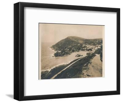 'Polperro from Talland Cliff Path', 1927-Unknown-Framed Photographic Print