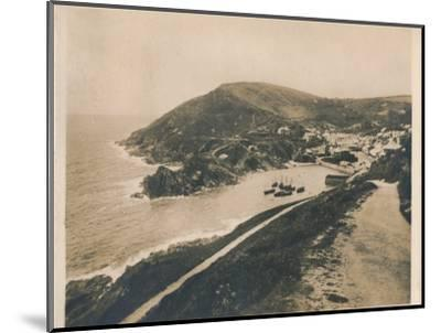 'Polperro from Talland Cliff Path', 1927-Unknown-Mounted Photographic Print
