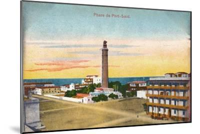 'Phare de Port-Said', c1900-Unknown-Mounted Giclee Print