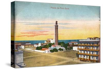 'Phare de Port-Said', c1900-Unknown-Stretched Canvas Print
