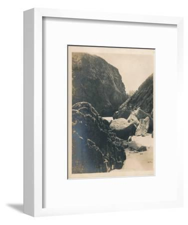 'Rocks at Newquay', 1927-Unknown-Framed Photographic Print