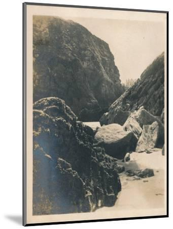 'Rocks at Newquay', 1927-Unknown-Mounted Photographic Print