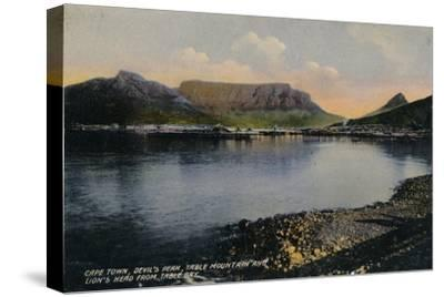 'Cape Town, Devil's Peak, Table Mountain and Lion's Head from Table Bay', c1900-Unknown-Stretched Canvas Print