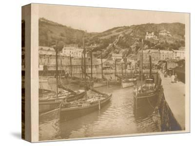 'Fishing Boats - Polperro', 1927-Unknown-Stretched Canvas Print