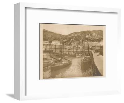 'Fishing Boats - Polperro', 1927-Unknown-Framed Photographic Print