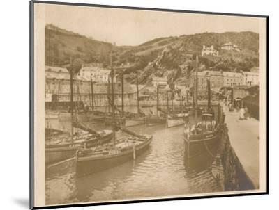 'Fishing Boats - Polperro', 1927-Unknown-Mounted Photographic Print
