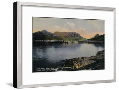 'Cape Town, Devil's Peak, Table Mountain and Lion's Head from Table Bay', c1900-Unknown-Framed Giclee Print