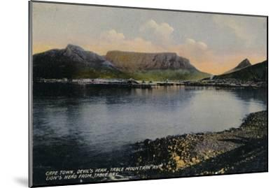 'Cape Town, Devil's Peak, Table Mountain and Lion's Head from Table Bay', c1900-Unknown-Mounted Giclee Print