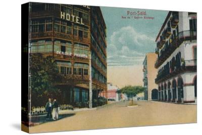 'Port-Said. Rue de l'Eastern Exchange', c1900-Unknown-Stretched Canvas Print