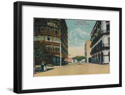 'Port-Said. Rue de l'Eastern Exchange', c1900-Unknown-Framed Giclee Print