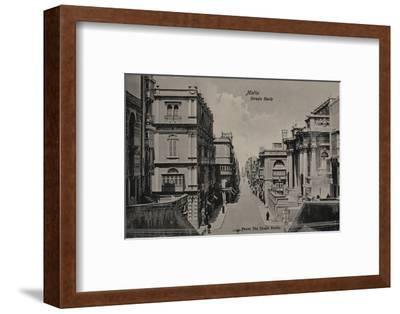 'Malta - Strada Reale', c1900-Unknown-Framed Photographic Print