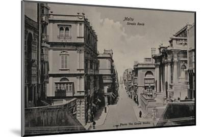 'Malta - Strada Reale', c1900-Unknown-Mounted Photographic Print