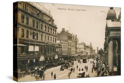 'Adderley Street, Cape Town', c1900-Unknown-Stretched Canvas Print