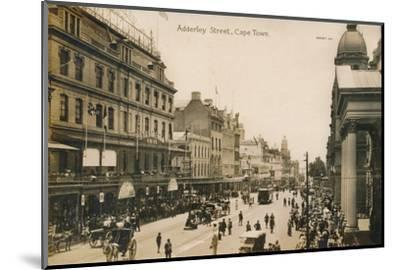 'Adderley Street, Cape Town', c1900-Unknown-Mounted Photographic Print