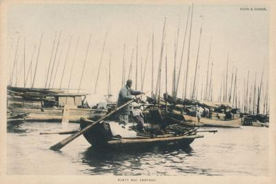'Boats and Sampans', c1910-Unknown-Framed Giclee Print