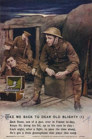 'Take Me Back To Dear Old Blighty (1)', c1916-Unknown-Framed Giclee Print