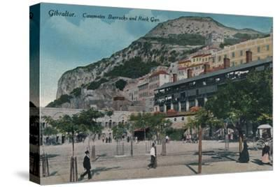 'Gibraltar - Casemates Barracks and Rock Gun', c1900-Unknown-Stretched Canvas Print