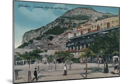'Gibraltar - Casemates Barracks and Rock Gun', c1900-Unknown-Mounted Giclee Print