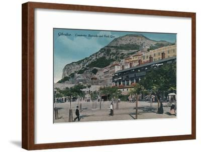 'Gibraltar - Casemates Barracks and Rock Gun', c1900-Unknown-Framed Giclee Print