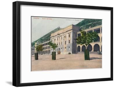 'Gibraltar - South Barracks', 1900-Unknown-Framed Giclee Print