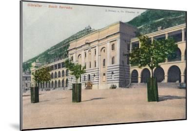 'Gibraltar - South Barracks', 1900-Unknown-Mounted Giclee Print