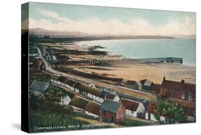 'Campbelltown Bay & Jetty Ardersier', c1930-Unknown-Stretched Canvas Print
