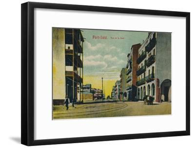 'Port-Said. Rue de la Gare', c1900-Unknown-Framed Giclee Print