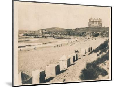 'Fistral Beach - Newquay', 1927-Unknown-Mounted Photographic Print
