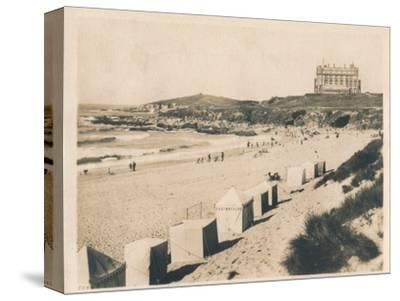 'Fistral Beach - Newquay', 1927-Unknown-Stretched Canvas Print