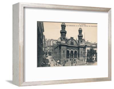 'Alger - La Cathédrale et la Palais d'Hiver du Gouverneur', c1900-Unknown-Framed Photographic Print