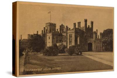 'Government House, Sydney', c1900-Unknown-Stretched Canvas Print