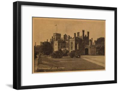 'Government House, Sydney', c1900-Unknown-Framed Giclee Print
