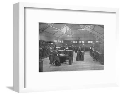 In the Post Office Central Telephone Exchange, City of London, c1903 (1903)-Unknown-Framed Photographic Print