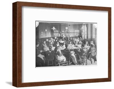 Girls at needlework, Halliwick School For Girls, Marylebone Road, London, c1903-Unknown-Framed Photographic Print