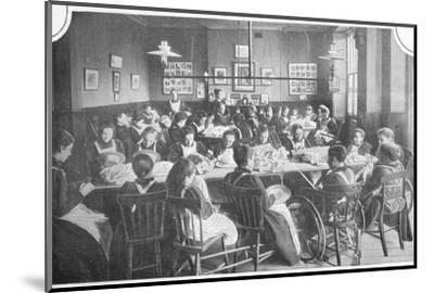Girls at needlework, Halliwick School For Girls, Marylebone Road, London, c1903-Unknown-Mounted Photographic Print