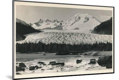 'Mendenhall Glacier near Juneau, Alaska', c1940-Unknown-Mounted Photographic Print