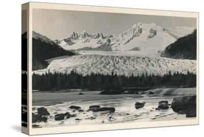 'Mendenhall Glacier near Juneau, Alaska', c1940-Unknown-Stretched Canvas Print