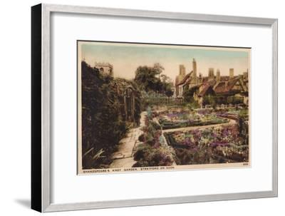'Shakespeare's Knot Garden, Stratford-Upon-Avon', c1910-Unknown-Framed Giclee Print
