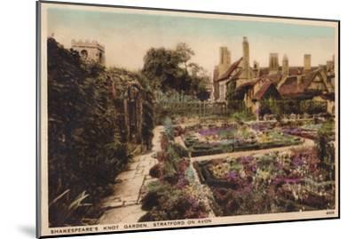 'Shakespeare's Knot Garden, Stratford-Upon-Avon', c1910-Unknown-Mounted Giclee Print