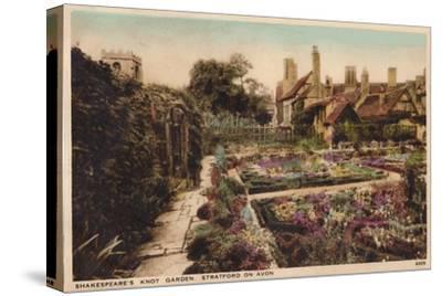 'Shakespeare's Knot Garden, Stratford-Upon-Avon', c1910-Unknown-Stretched Canvas Print