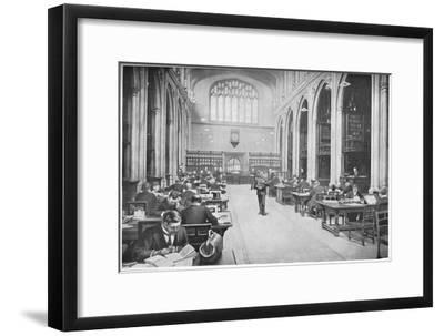 Reading room, Guildhall Library, City of London, c1903 (1903)-Unknown-Framed Giclee Print