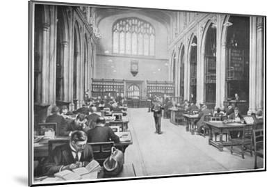 Reading room, Guildhall Library, City of London, c1903 (1903)-Unknown-Mounted Giclee Print
