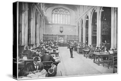 Reading room, Guildhall Library, City of London, c1903 (1903)-Unknown-Stretched Canvas Print